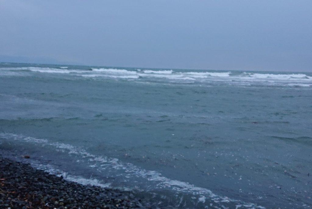 少し波が高いかな?