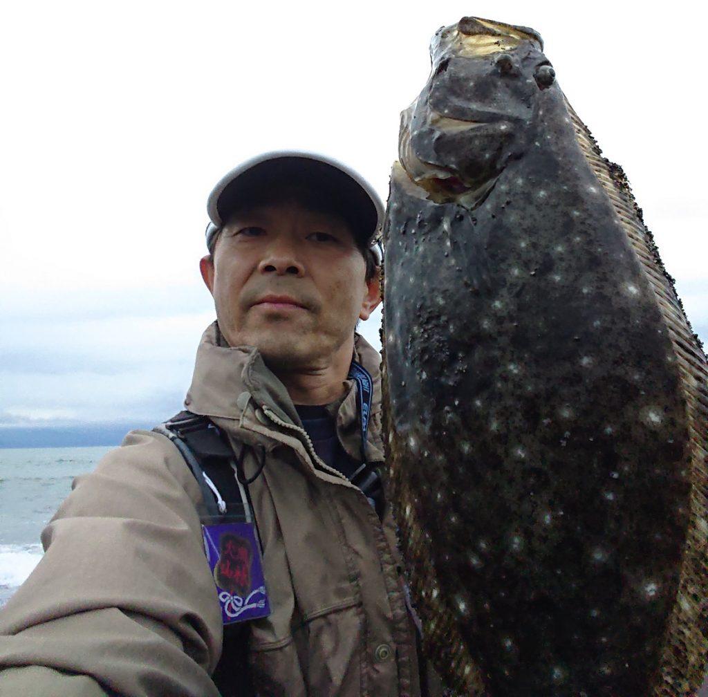 やりました。富士川河口ヒラメです。