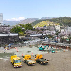 峡南堂印刷所からの舞鶴城公園絶景スポット