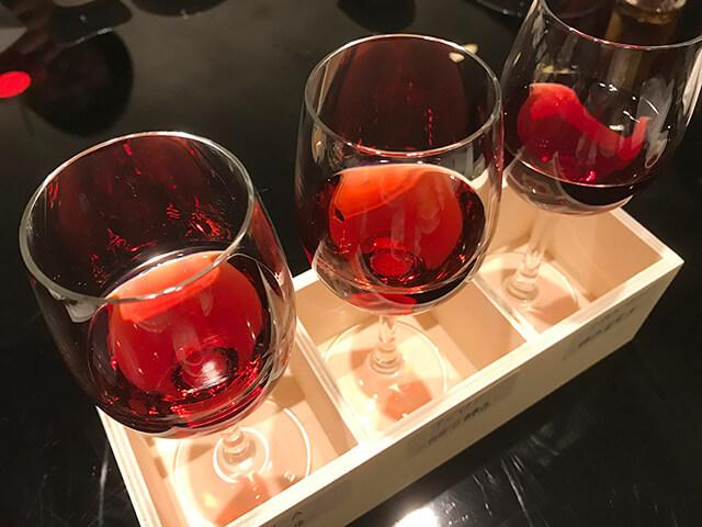 県産グラスワイン3種飲み比べ画像